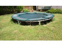 8ft diameter sunken trampoline