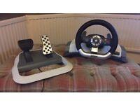 Xbox 360 wireless racing wheel controller