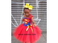 Superhero tutu dress tutu skirt Hair accessories London