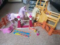 barbie showjumping set