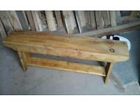Handmade rustic benches