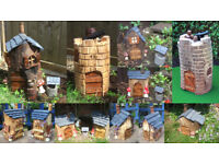 Garden Ornaments. Handmade Fairy/Pixie Houses/Pubs/Castles
