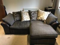 DFS MARTINA 2/3 SEATER PILLOW BACK SOFA. £325. EXCELLENT CONDITION