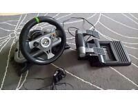 xbox 360 steering wheel mad catz