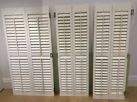 White wooden shutters - used but good condition