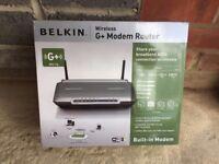 BRAND NEW - Belkin Wireless G+ Modem Router