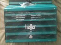 heller hss metal drill bit cabinet retail display storage case x 2