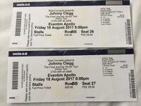Johnny clegg ticket -18 Aug £60 each Stalls Row BB