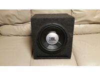 CAR SUBWOOFER JBL 1200 WATT 12 INCH WITH PORTED ENCLOSURE BASS BOX AND SUB WOOFER