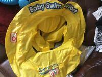 Swim safe inflatable ring.