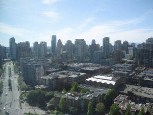 Sept 1:Lovely Furnished 1 bedroom + den in Landmark Yaletown
