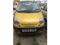 Daewoo Matiz 200 SALE ONLY 1 LADY OWNER / LOW MILEAGE any reasonable offer accepted