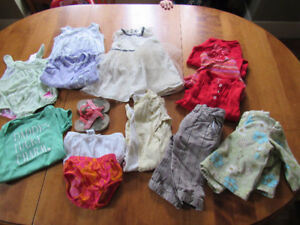 6-12 and 9-12 month old girl's clothing