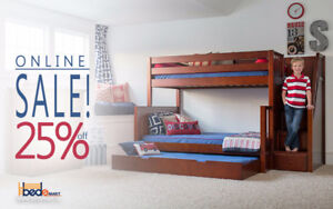 SALE 25%OFF+ FREE SHIPPING CANADA WIDE__SOLID WOOD LOFT&BUNK BED