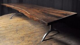 Handmade Oak Slab and reclaimed timber tables