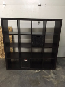 Black Brown 16 Square Ikea Shelf Unit