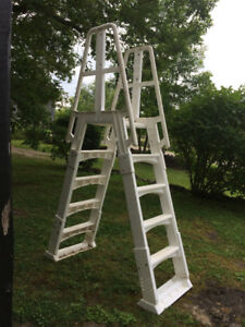 2 above ground pool ladders