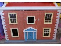 Georgian style hand made Dolls House with furniture
