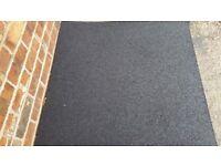 6 black thick gym/play mats