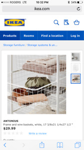 Ikea Antonious frame and wire baskets