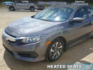 2016 Honda Civic Sedan EX  - Sunroof -  Bluetooth -  Heated Seat