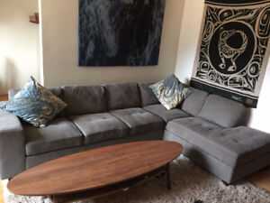 Large grey sectional for sale