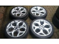 GENUINE 18 FORD FOCUS ST ALLOY WHEELS NEW 225 40 18 TYRES MONDEO TRANSIT CONNECT