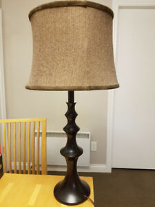 ebony lamp and shade