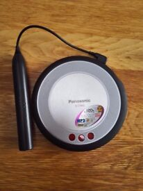 A portable CD player in good condition for sale