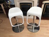 Bar stools - quality expensive very heavy trendy design