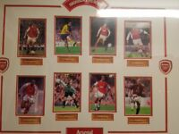signed arsenal picture very rare