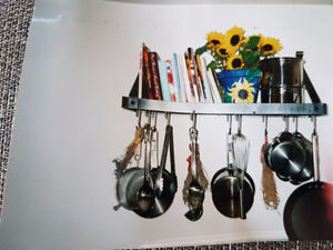 POTS & PANS RACK FOR WALL OR CEILINGS