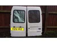 Pair back doors for a ford courier van