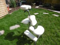 Massage Chair, portable, white, hardly used