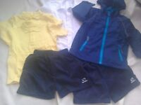 School jacket (lightweight) + polo shirts + shorts + shirt Age 3-4