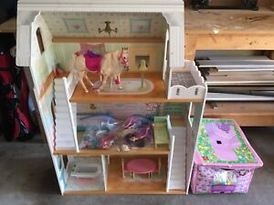 Barbie House with Horse, Furniture, Dolls and Accessories
