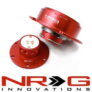 NRG 2.5 Gen Steering Wheel Quick Release Hub - Red / Red Ring  