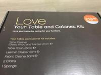 Harveys Table and Cabinet Cleaning Kit - NEW