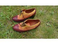 shoe embassy two tone women's brogue heels