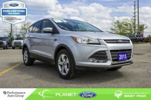 2015 Ford Escape SE|BACKUP CAM|1.6L|HTD SEATS|FORD CERTIFIED