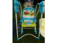 Fisher price 3 in 1 bouncer and swing chair