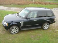 Land Rover Range Rover Vogue SE, Petrol 4.4V8, Metallic Blue, Cream/blue interior.