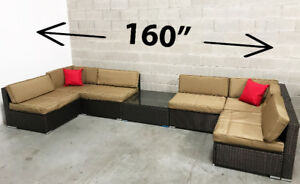 Patio furniture Outdoor wicker Set includes Cushions & Table