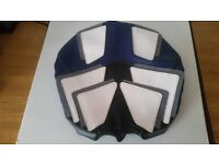 YAMAHA R1 SEAT COVER BLUE & WHITE FAUX LEATHER VGC. MAY FIT OTHER MODELS £45