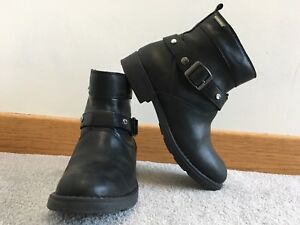 Black GEOX Girls Ankle Boots
