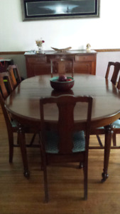 Antique dining room table $500