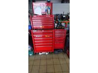Snap on tool box with side box