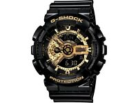 Casio G-Shock Special Colour Model Black & Gold GA-110GB-1A Watch
