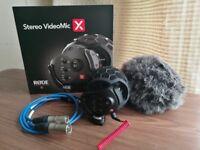 RODE Stereo VideoMic X & XLR Leads