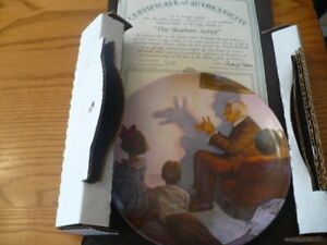 Norman Rockwell Shadow Plate with Certificate of Authenticity